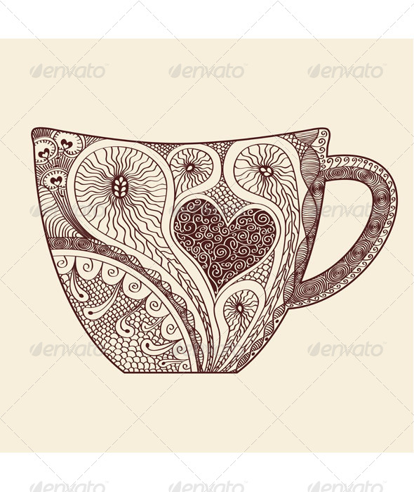 GraphicRiver Patterned Cup 7817455