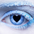frozen eye zone makeup  and pupil in for of heart - PhotoDune Item for Sale