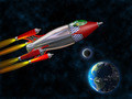 Retro rocket in space - PhotoDune Item for Sale