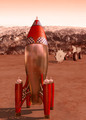Retro rocket on Mars - PhotoDune Item for Sale
