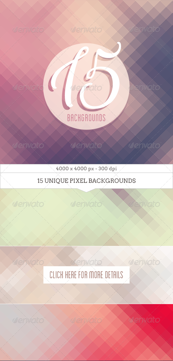 GraphicRiver Diagonal Pixel Backgrounds 7819728