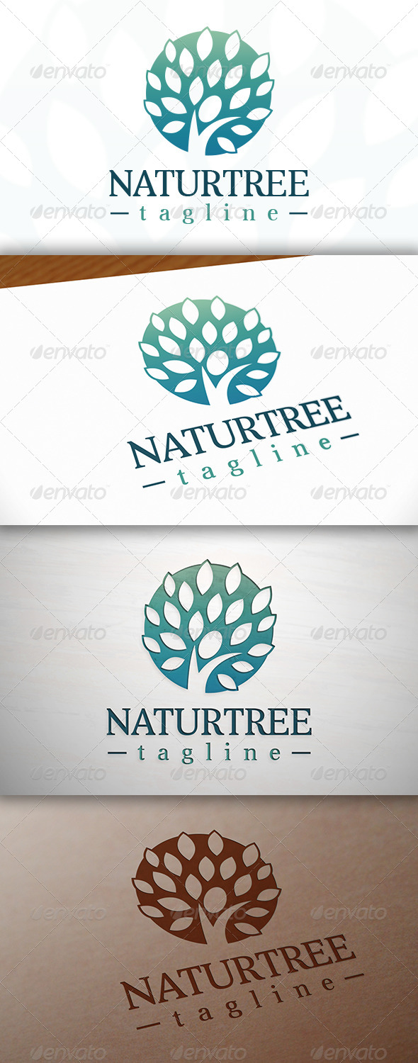 GraphicRiver Nature Tree Logo 7820252