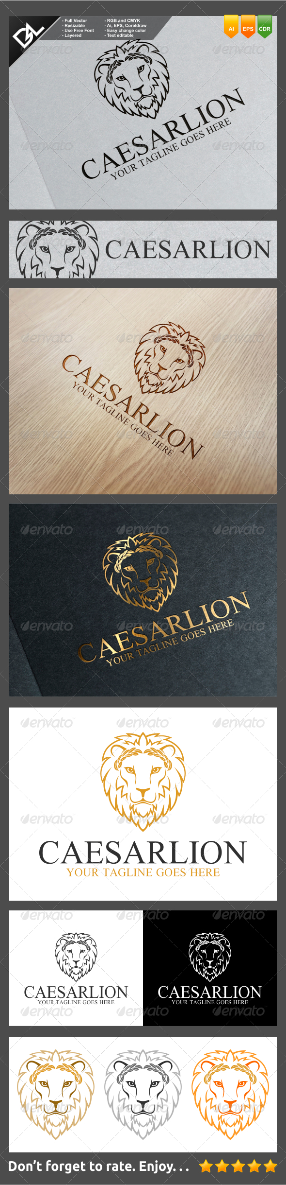 GraphicRiver Caesar Lion 7820387