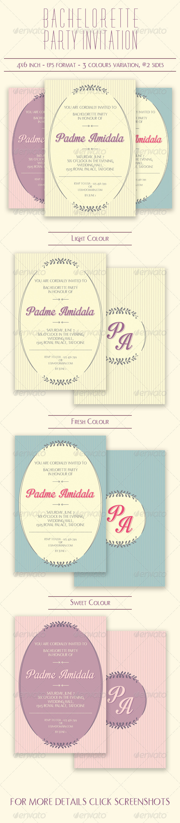 GraphicRiver Bachelorette Party Invitation 7820453