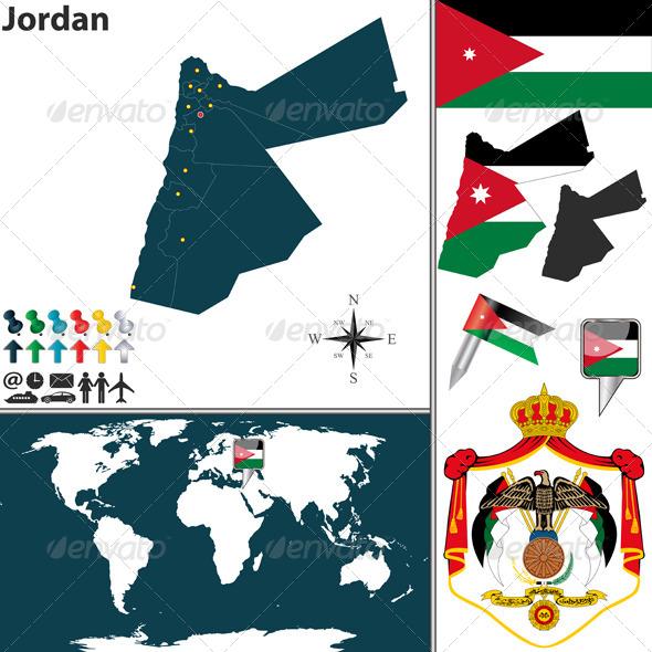 GraphicRiver Map of Jordan 7821254