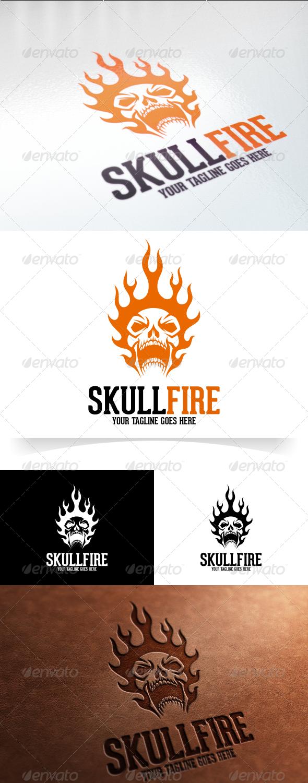 GraphicRiver Skull Fire Logo Template 7821261