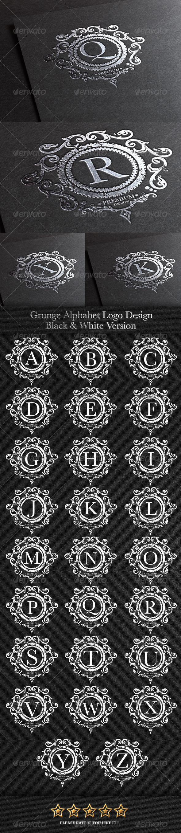 GraphicRiver Grunge Alphabet Symbol 7821811