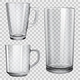 Glass Cups and Glass for Juice - GraphicRiver Item for Sale