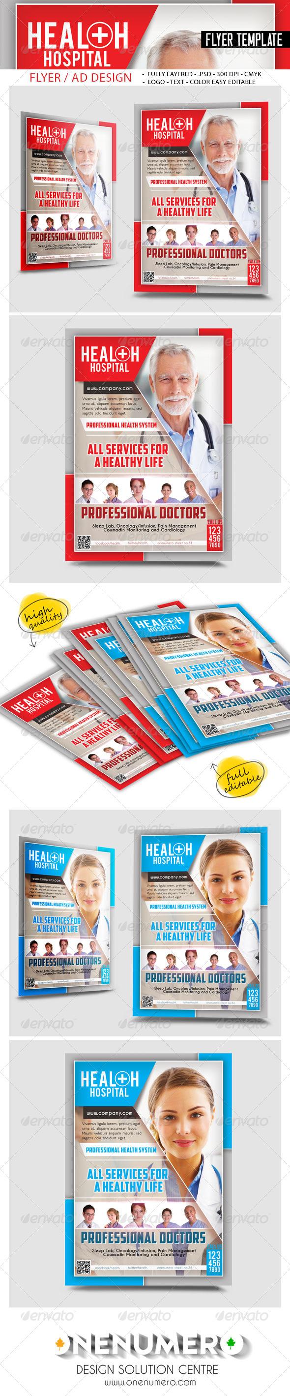GraphicRiver Health Hospital Flyer Templates 7793064