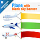 Plane with Blank Sky Banner - GraphicRiver Item for Sale