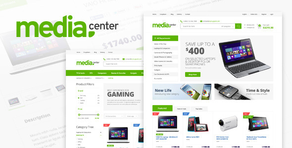 ThemeForest Media Center Electronic eCommerce PSD Template 7822761