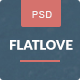 FlatLove - Elegant Flat Wedding Psd Template