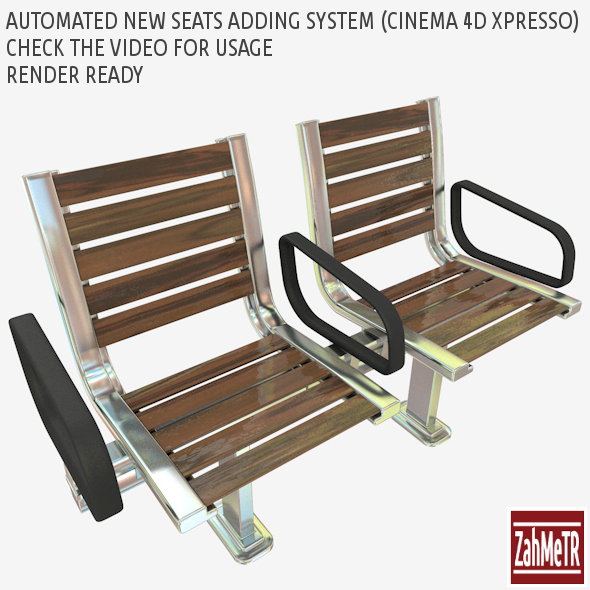 3DOcean Seats with Automatic Adding Slider Xpresso 7823031