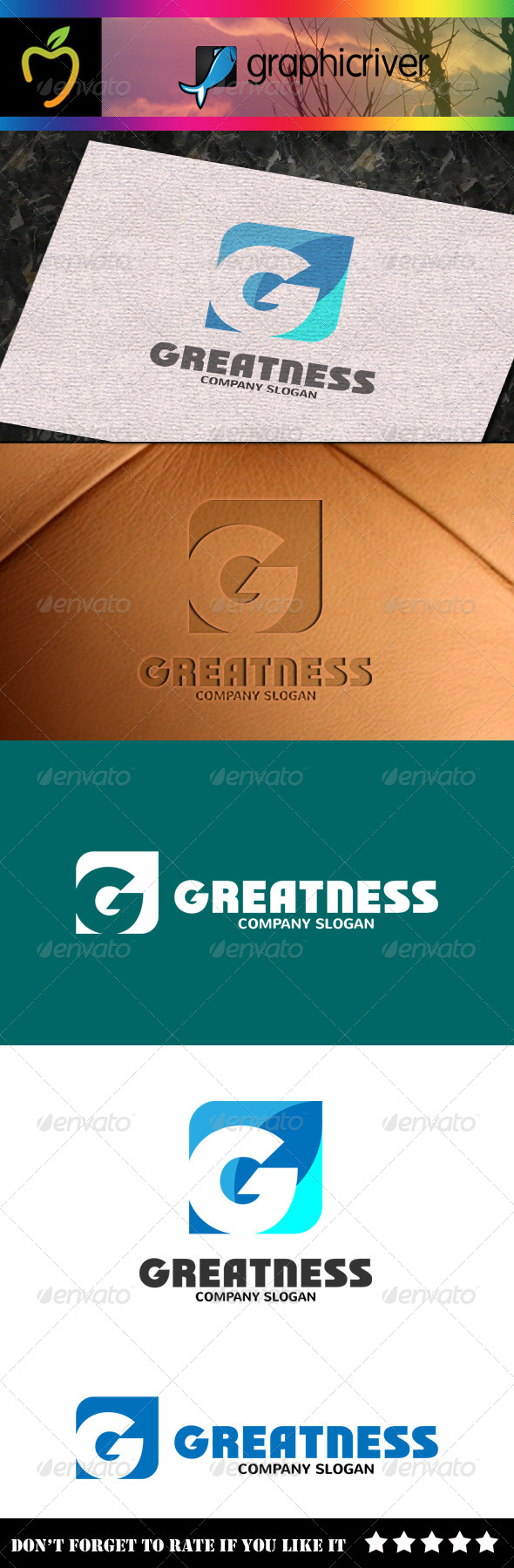 GraphicRiver Greatness G Letter Logo 7823321