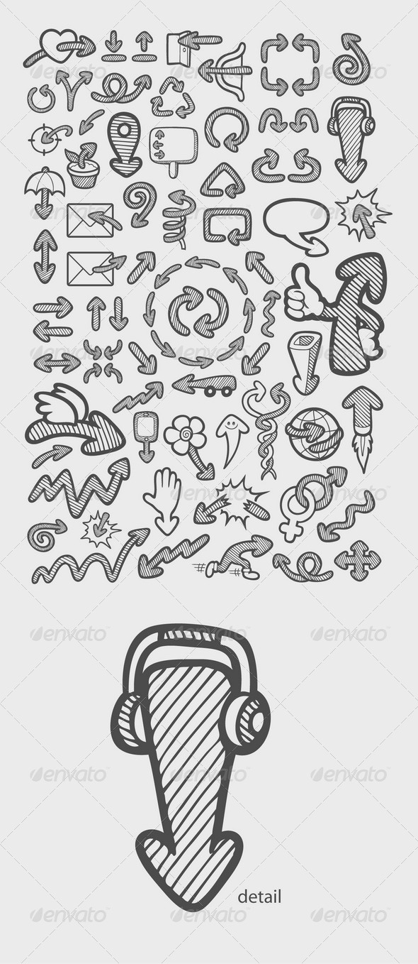 GraphicRiver Arrow Icons Sketch 7823421