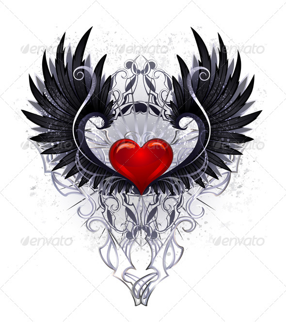 GraphicRiver Dark Angel Heart 7746085
