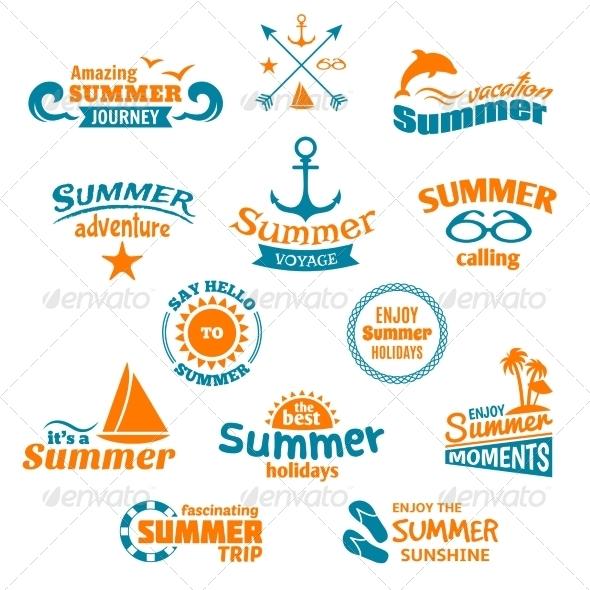 GraphicRiver Summer Element Label 7824628
