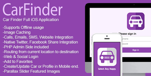 CodeCanyon Car Finder Full iOS Application v1.2 7741636
