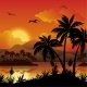 Tropical Islands with Palms, Flowers and Birds - GraphicRiver Item for Sale