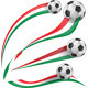 Italian Flag Set with Soccer Ball - GraphicRiver Item for Sale