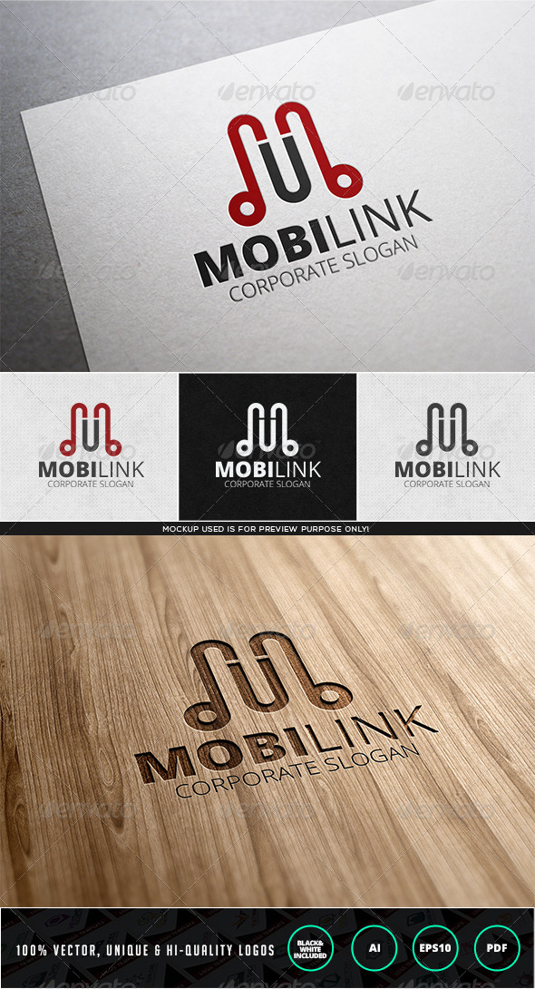 GraphicRiver Mobilink Logo Template 7827001