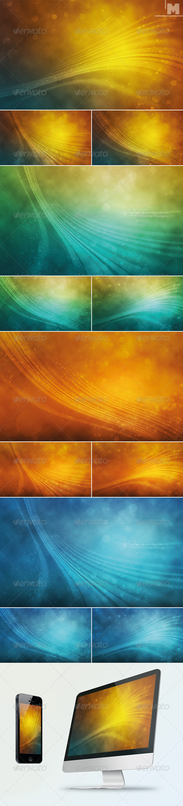 GraphicRiver Abstract Waves Backgrounds 7827140