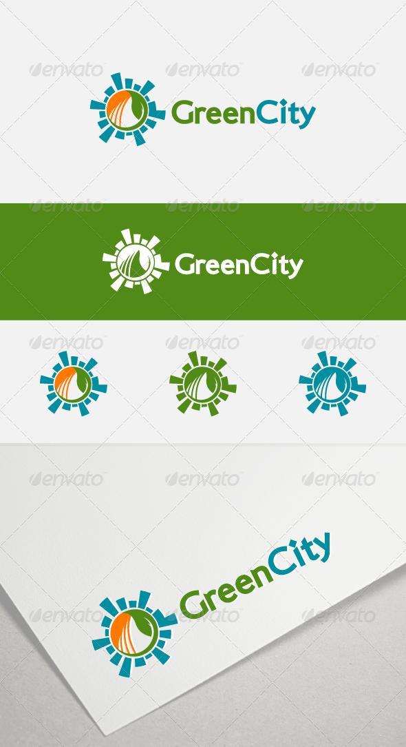 GraphicRiver Green City Logo 7783323