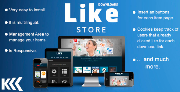 CodeCanyon Like Store Downloads One Download for One Like 7827379