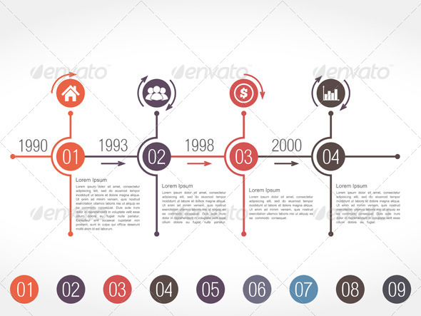 GraphicRiver Timeline Infographics Design Template 7827394