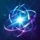 Shining Neon Lights Atom Model - GraphicRiver Item for Sale