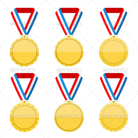 GraphicRiver Golden Medals 7829102