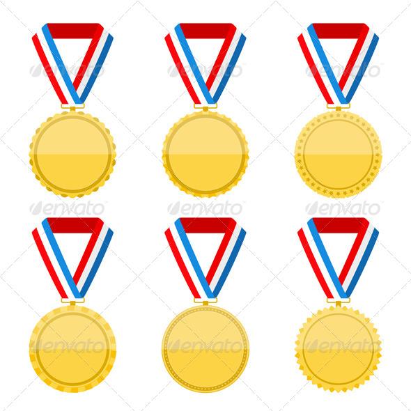 GraphicRiver Golden Medals 7829102