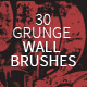 30 Grunge Wall Photoshop Brushes - GraphicRiver Item for Sale