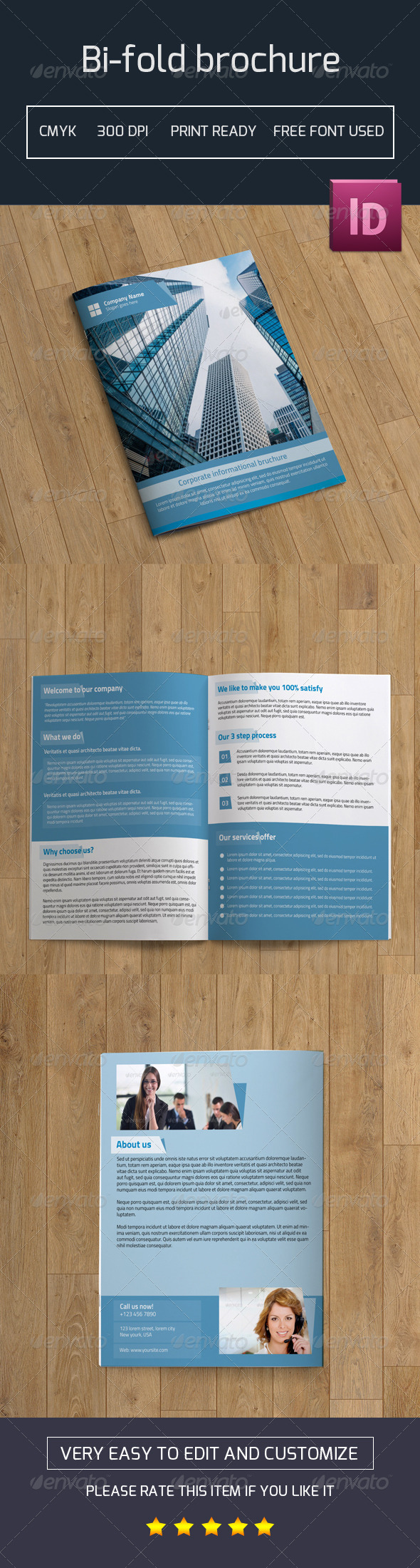 GraphicRiver Bifold Business Brochure-V17 7829713