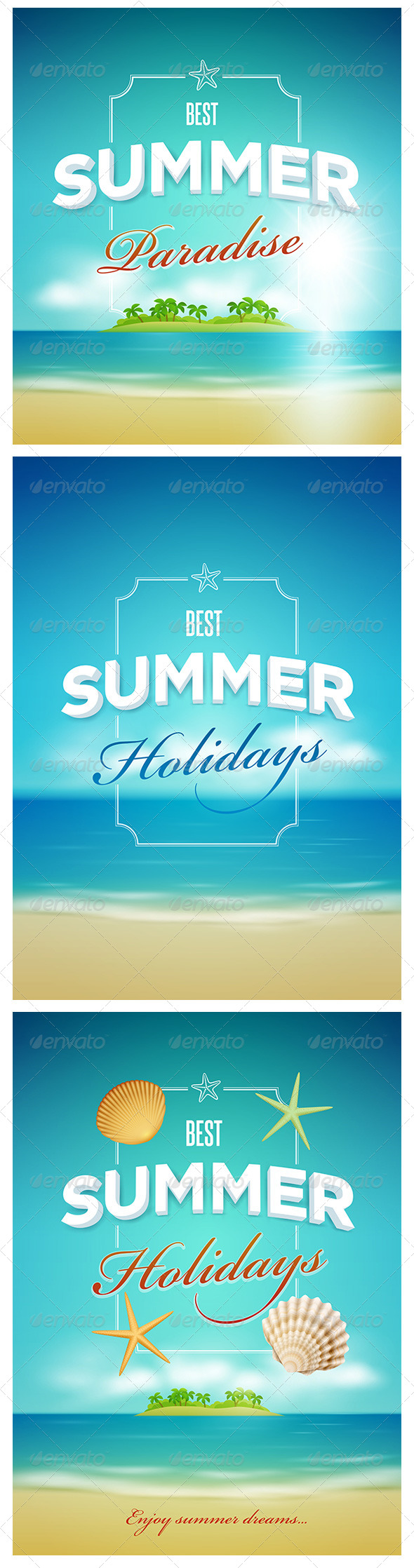 GraphicRiver Summer Poster Design Set 7830475