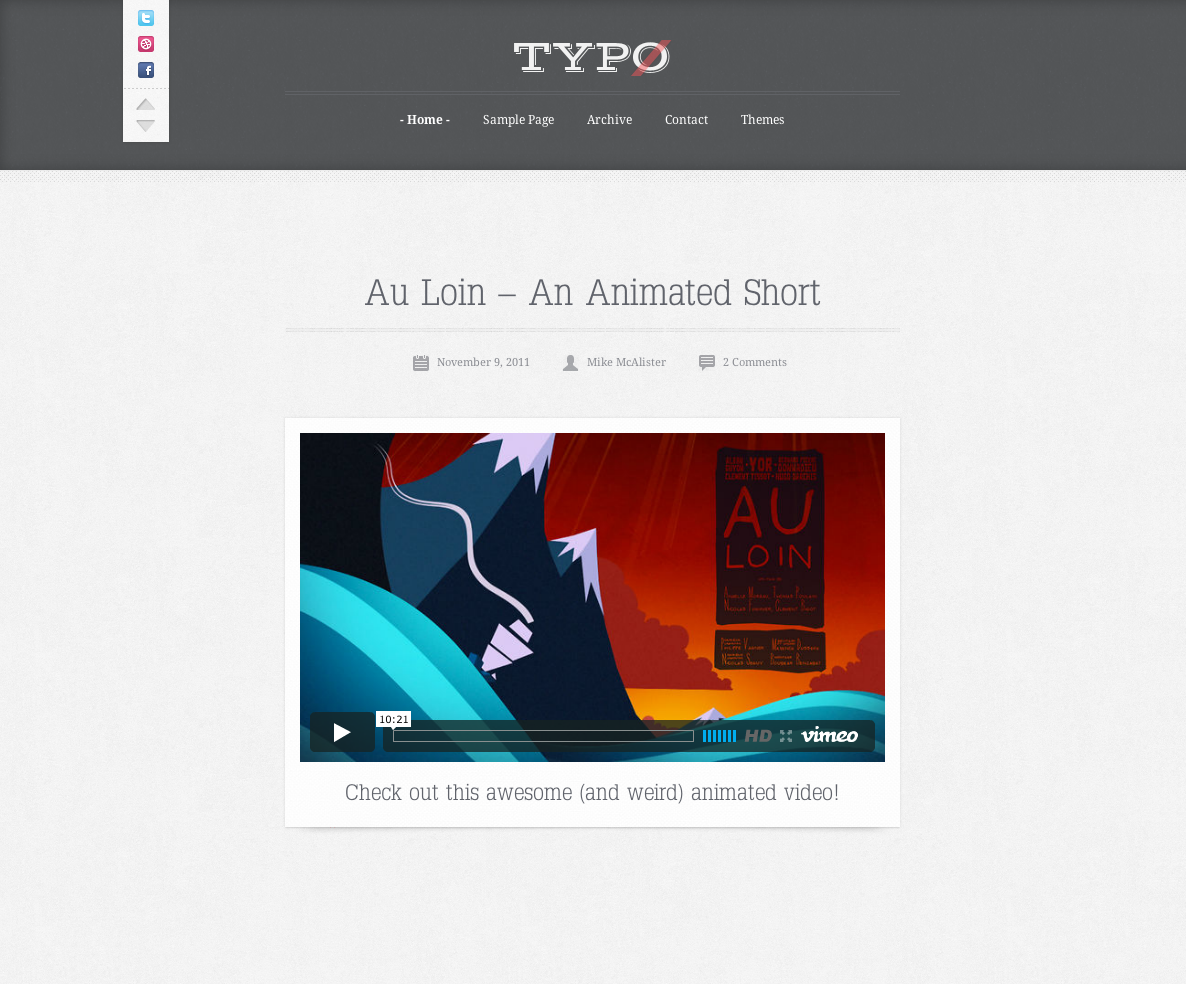 Typo - Tumblog Style WordPress Theme