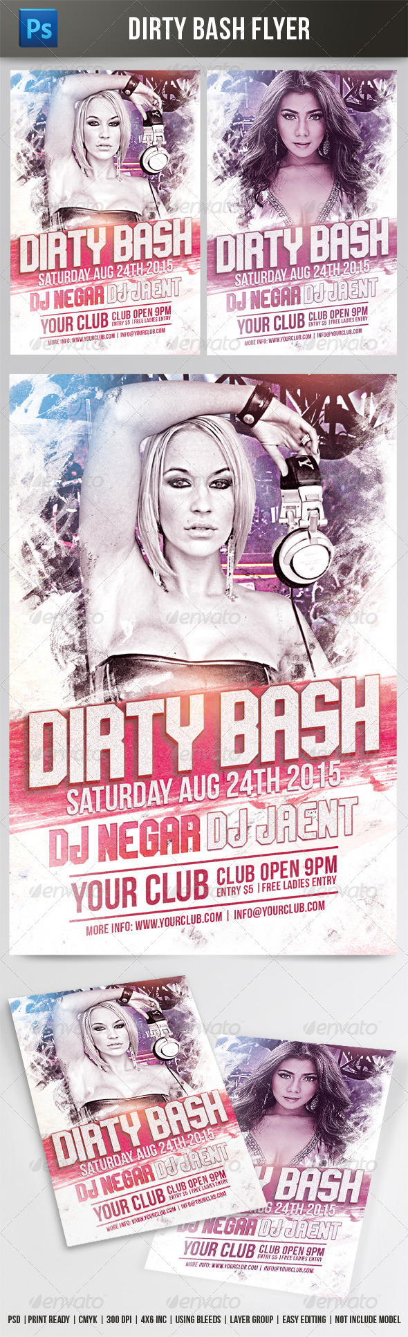GraphicRiver Dirty Bash Flyer 7835536