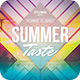 Summer Taste Flyer - GraphicRiver Item for Sale