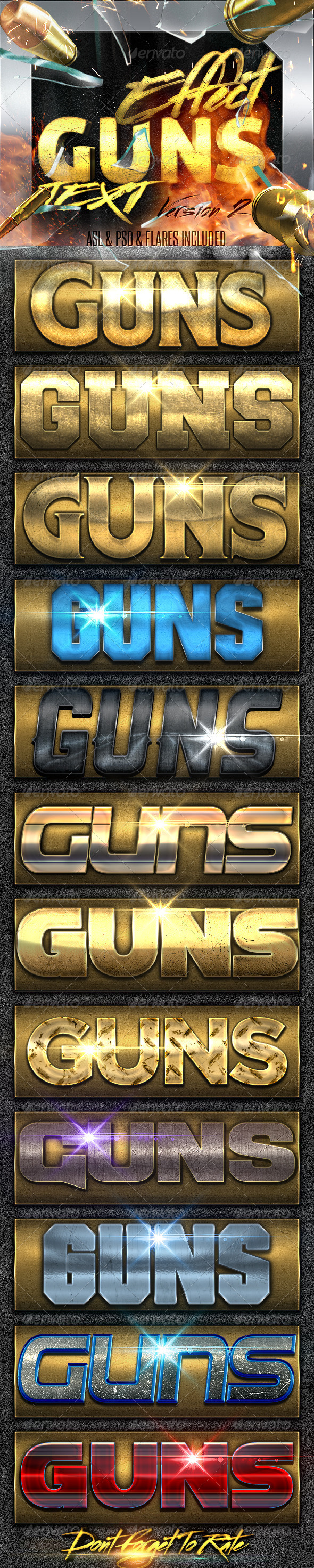 GraphicRiver Guns Layer Styles FX 2 7835992