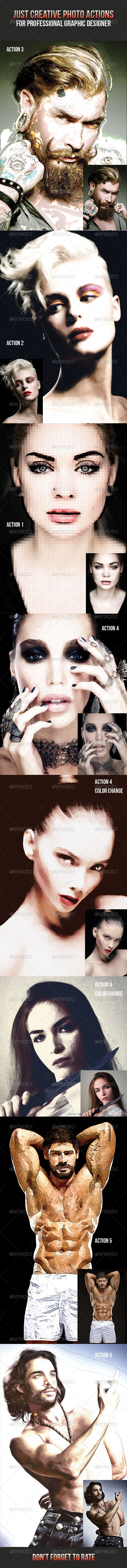 GraphicRiver Just Creative Photo Actions 7836114
