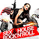 Sex House Rocknroll Flyer - GraphicRiver Item for Sale