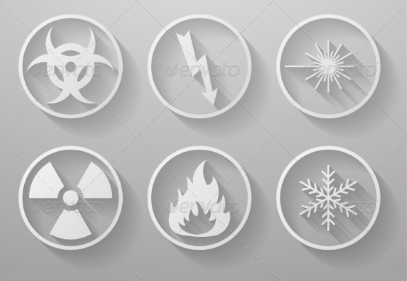 GraphicRiver Set of Paper Warning Signs 7836793