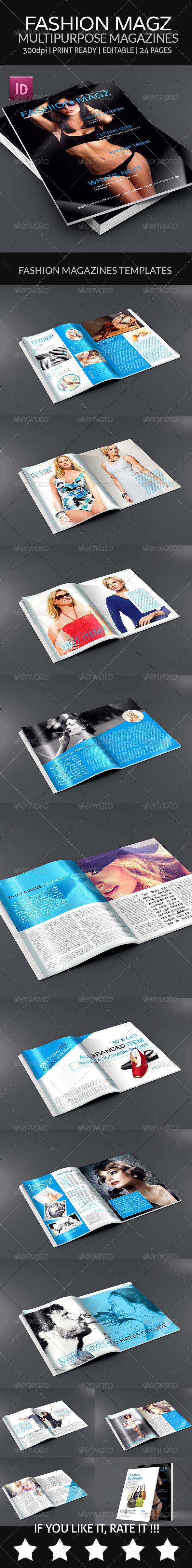 GraphicRiver Fashion Magz Multipurpose Magazines Template 7837001