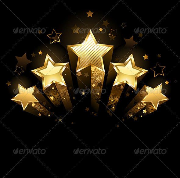 GraphicRiver Five Gold Stars 7803622