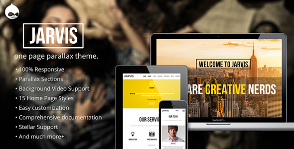 ThemeForest Jarvis Onepage Parallax Drupal Theme 7837131