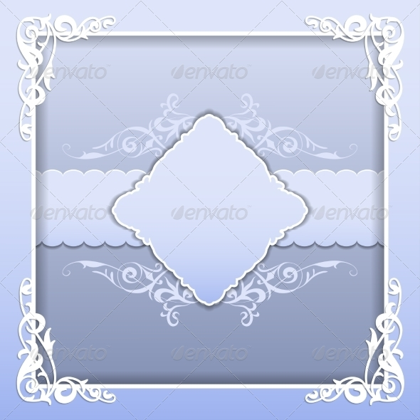 GraphicRiver Paper Frame with Lace Ornament 7837445
