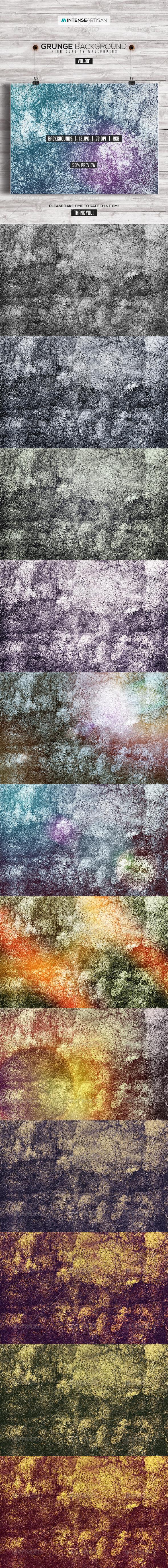 GraphicRiver 12 Grunge Background Vol.1 7837677