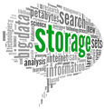 Storage concept in word cloud - PhotoDune Item for Sale
