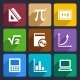 Mathematics Flat Icons Set 52 - GraphicRiver Item for Sale
