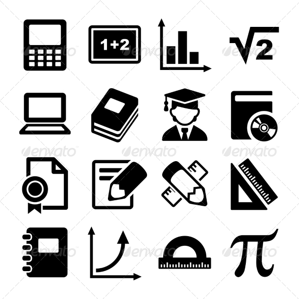 GraphicRiver Mathematics Icons Set 7838555